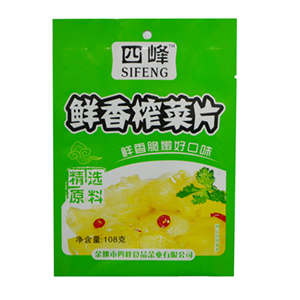 鲜香榨菜片 108克